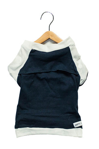 the babe - navy + white