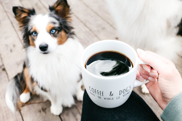 coffee and dogs mug