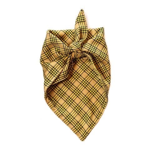 the henry - gold plaid