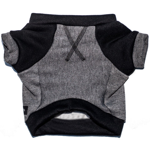 the kellan crew sweatshirt - deep gray + black