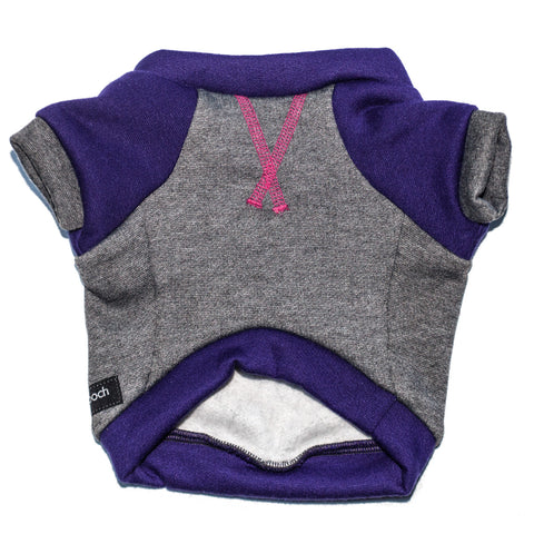the kellan crew sweatshirt - deep gray + purple