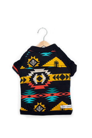 the babe - black + native aztec print
