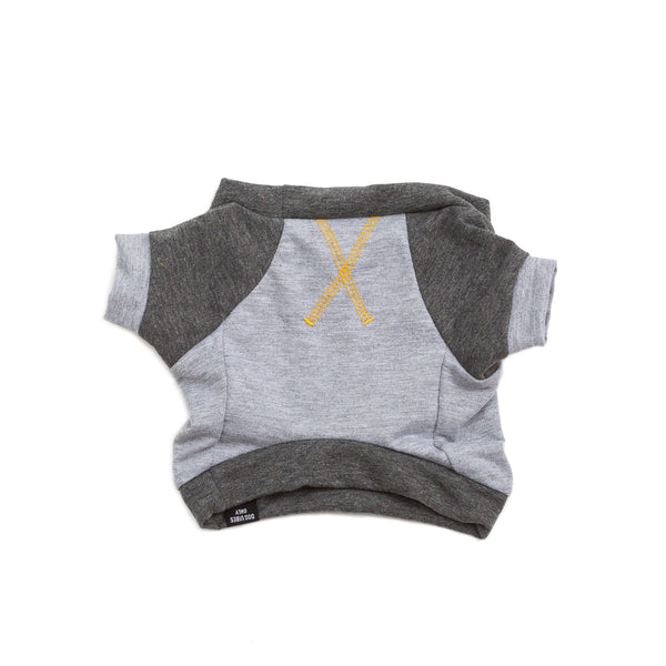 the kellan—gray + gold stitch