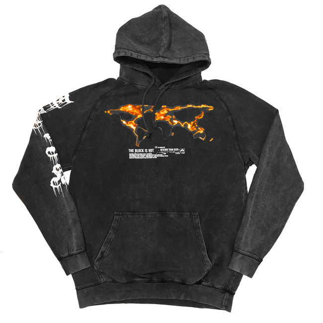 "The Block Is Hot by Kwon Alexander ""Revenge Tour"" Mineral Wash Black Hoodie"