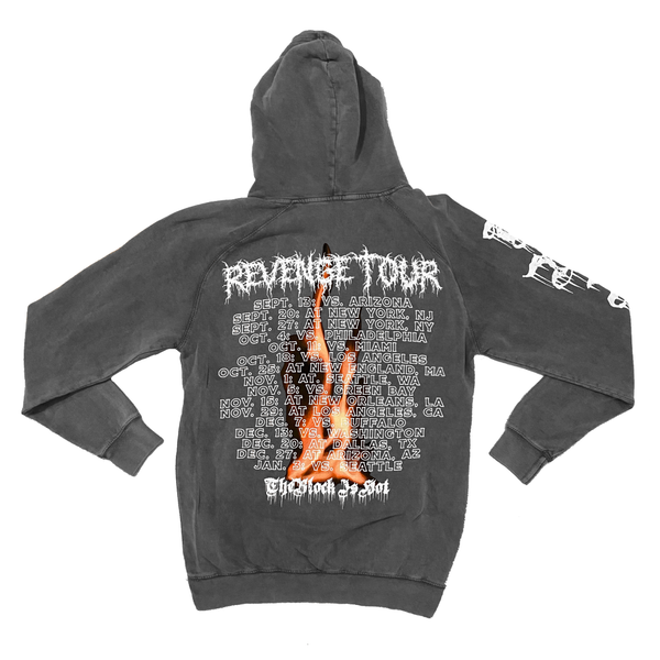 "The Block Is Hot by Kwon Alexander ""Revenge Tour"" Mineral Wash Charcoal Hoodie"