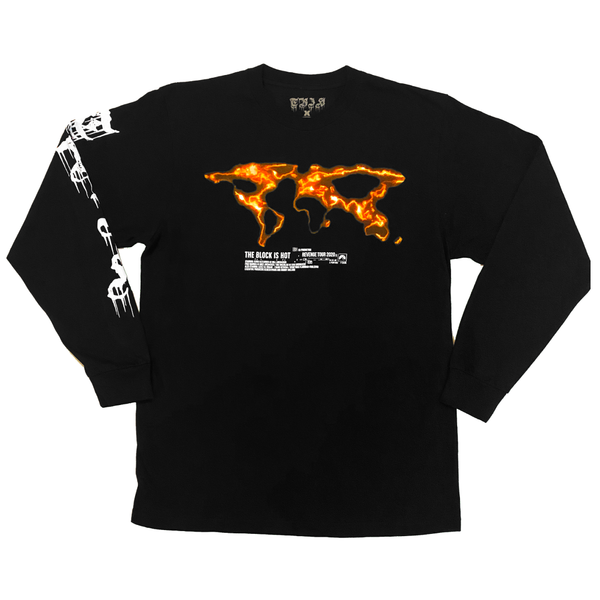 "The Block Is Hot by Kwon Alexander ""Revenge Tour"" Premium Black Long Sleeve Tee"