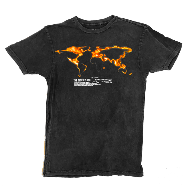 "The Block Is Hot by Kwon Alexander ""Revenge Tour"" Mineral Wash Black Tee"