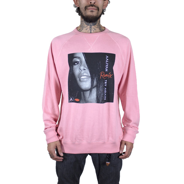 Aaliyah Try Again Remix Pink French Terry Raglan Sweatshirt