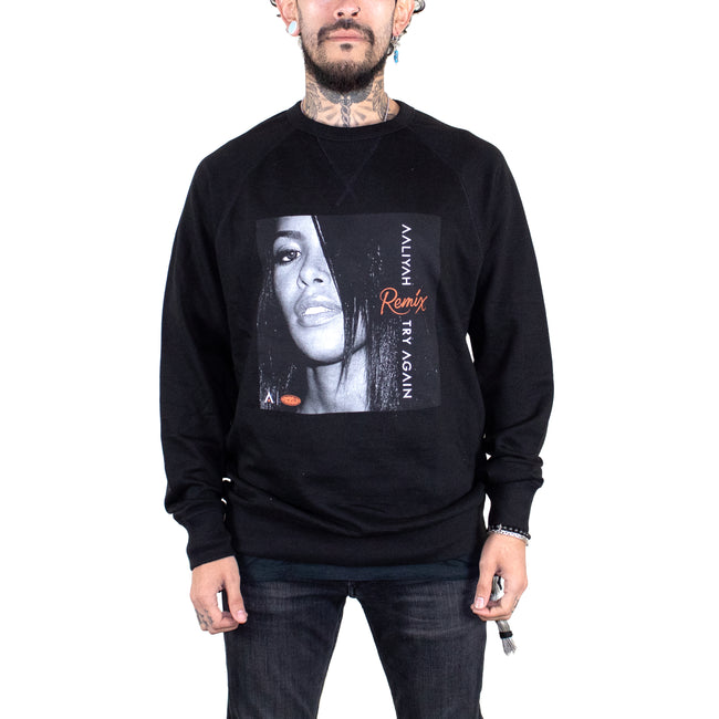 Aaliyah Try Again Remix Black French Terry Sweatshirt