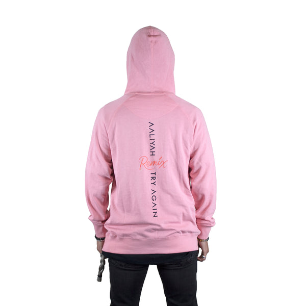 Aaliyah Try Again Remix Pink French Terry Hoodie