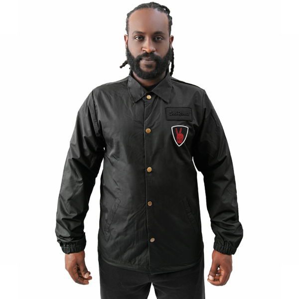 Soul Runner Black Patch Coach Jacket