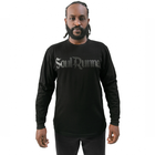 Soul Runner Black On Black Premium Long Sleeve Tee