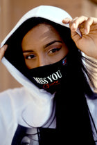 Aaliyah Miss You Navy Denim Face Mask