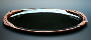 Long Oval Crater Handle Tray