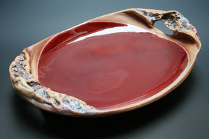 Oval Crater Handle Platter