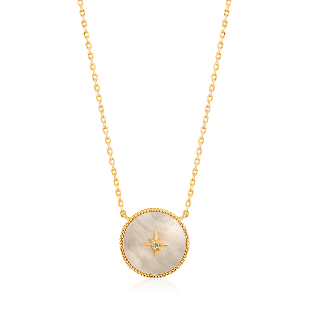 Mother of Pearl Emblem Necklace Golg