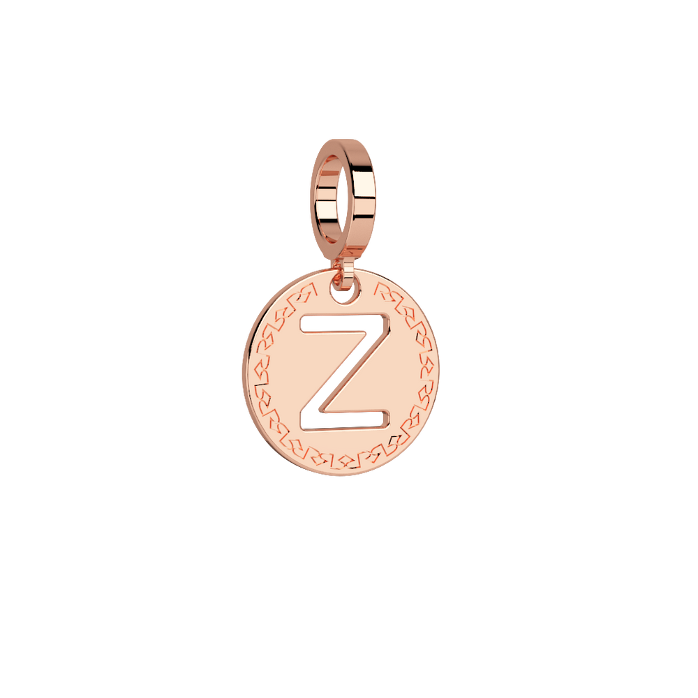Small Initial Charm Rose A-Z