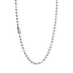 Smooth Ball Chain Silver