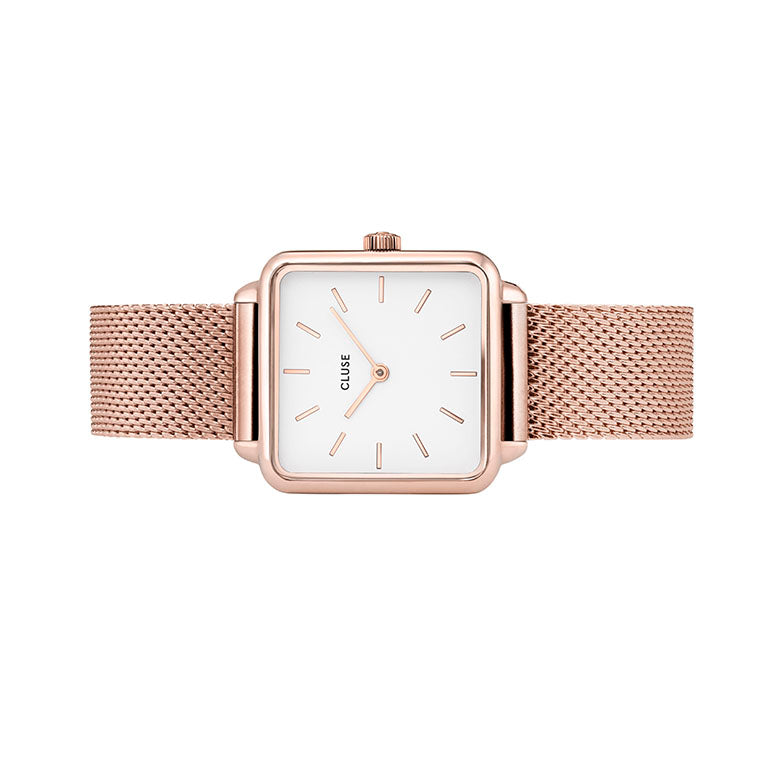 La Tetragone Rose Gold Mesh/White