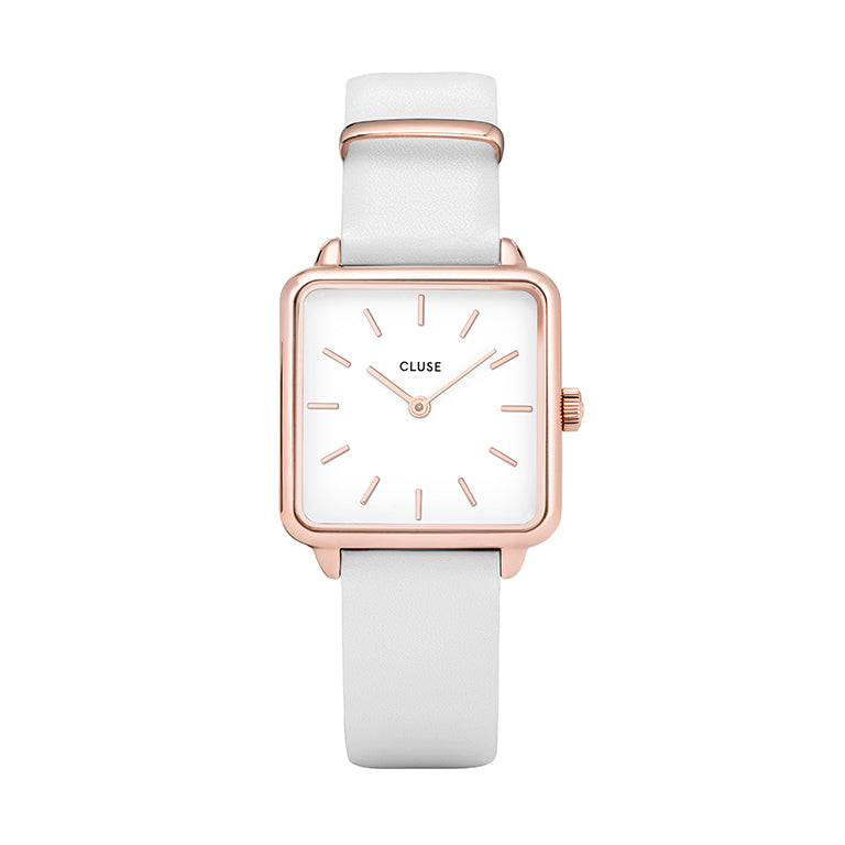 La Tetragone Rose Gold White/White
