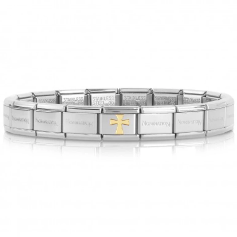 Gold Cross Starter Bracelet