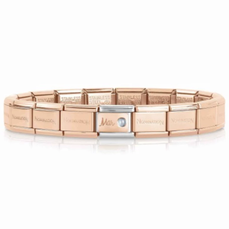 March Rose Gold Starter Bracelet