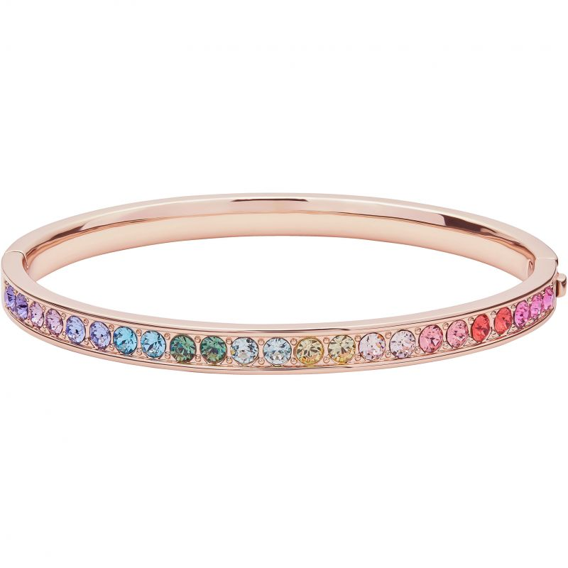 Relmara Rainbow Crystal Bangle Rose