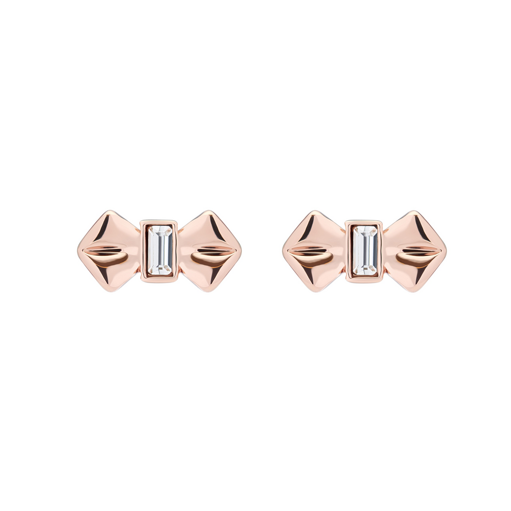 Susiee Bow Studs Rose