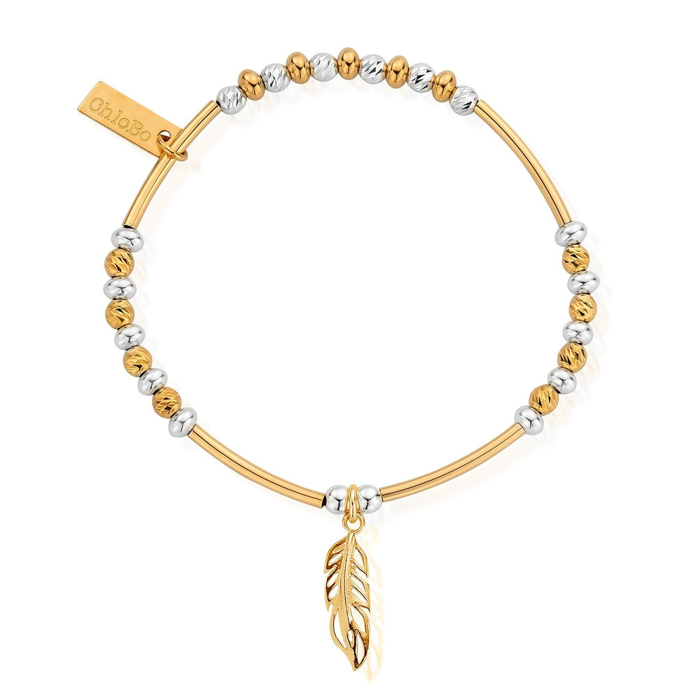 Filigree Feather Bracelet Gold & Silver