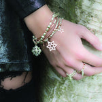 Double Star Bracelet Rose & Silver