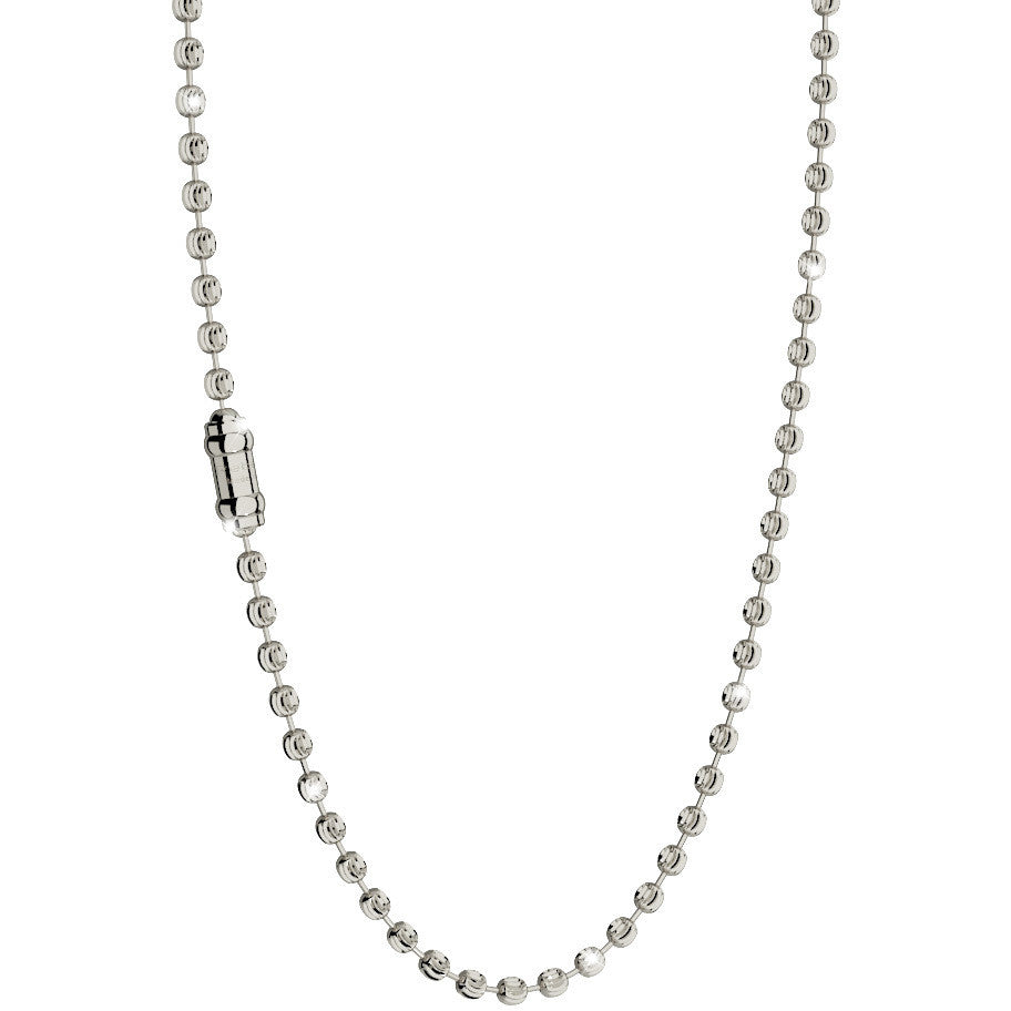 Diamond Cut Ball Chain Silver