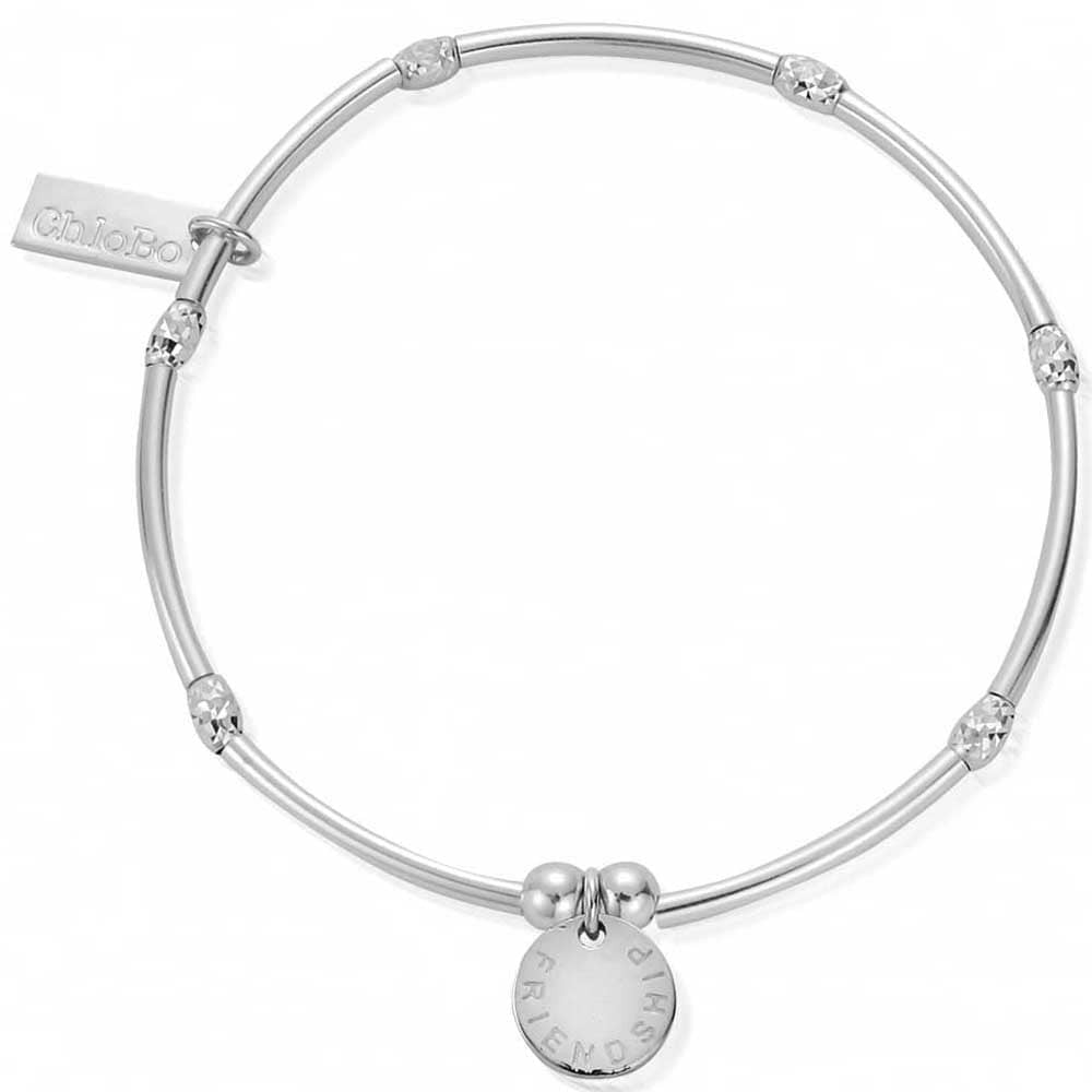 Mini Noodle Sparkle Friendship Bracelet Silver