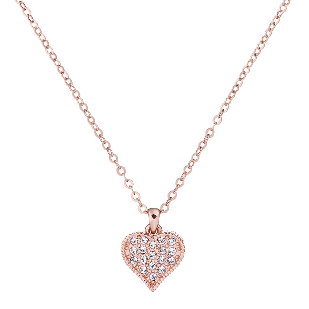 Heyna Heart Necklace Rose
