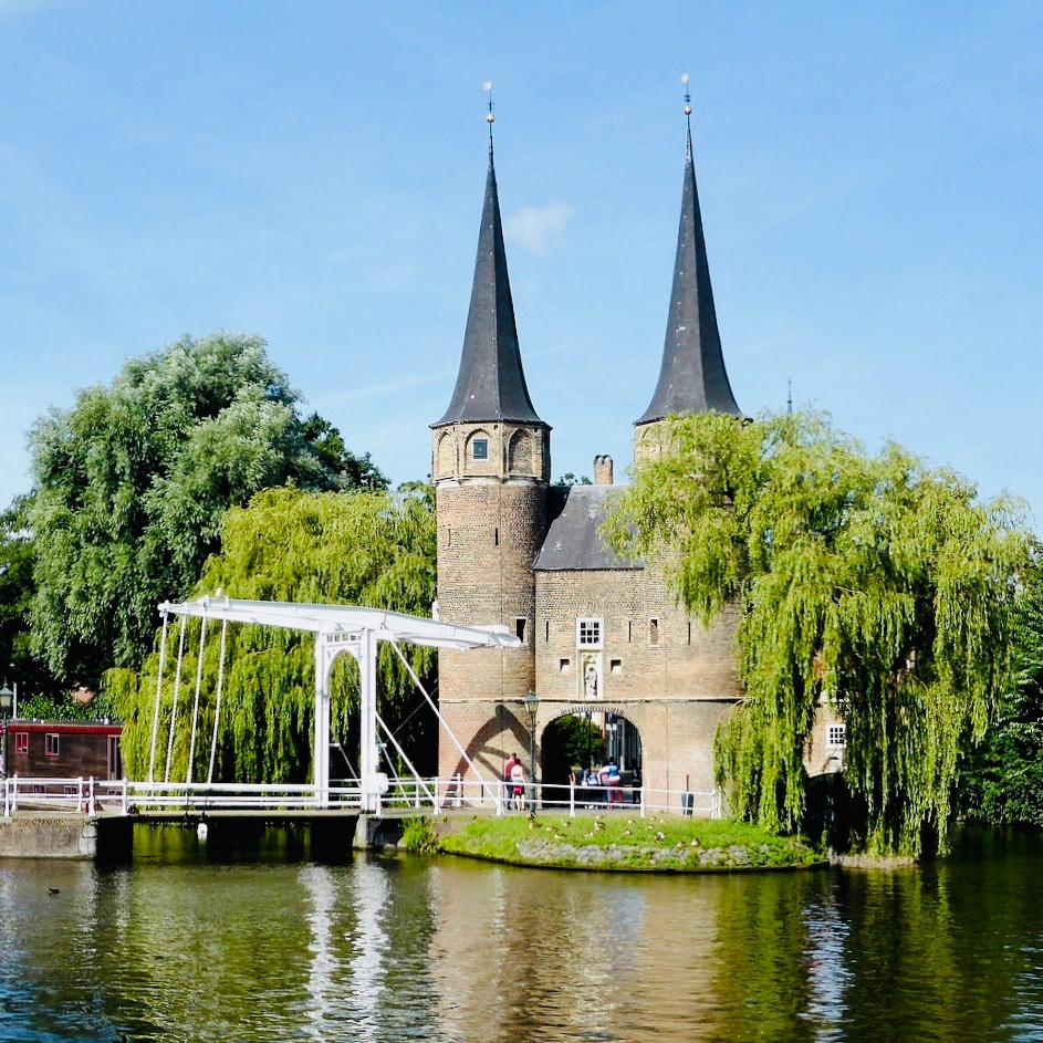 a beautiful image of the city gate of Delft in the Netherlands