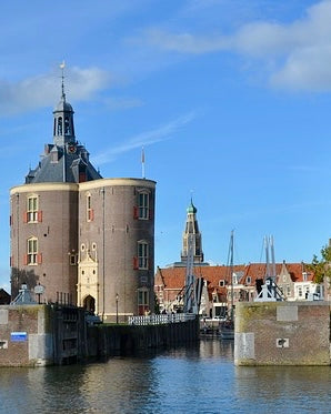 Image of a the medieval defense towers of Enkhuizen in Holland