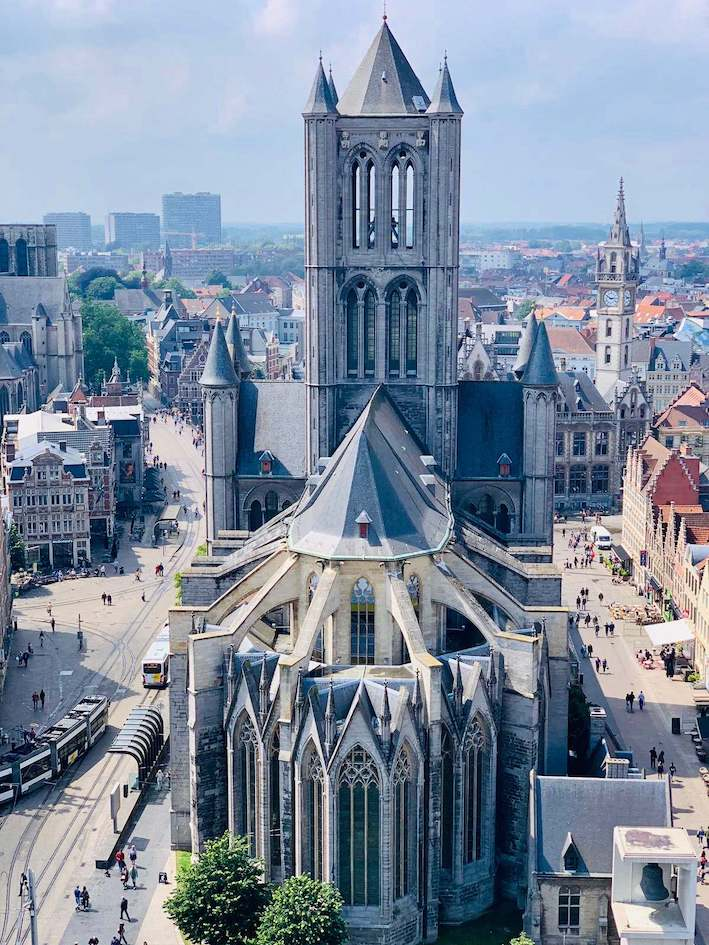 St. Bavo Cathedral medieval Ghent with Tulip Day Tours