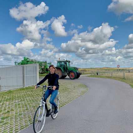Discover the beautiful island of Texel by e-bike with tulip day tours
