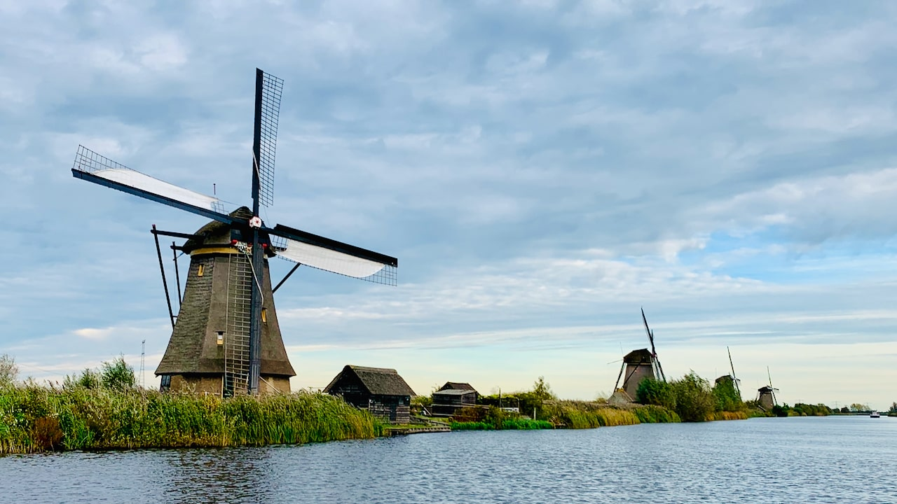 tour to the real windmills of kinderdijk in holland
