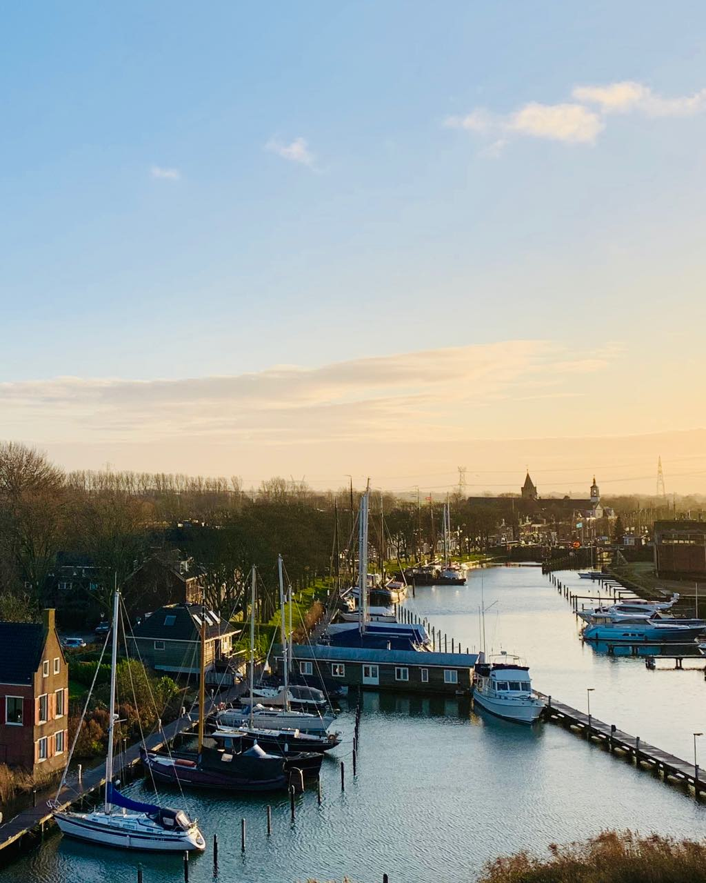 view from the castle on the river vecht in muiden  Amsterdam Castle