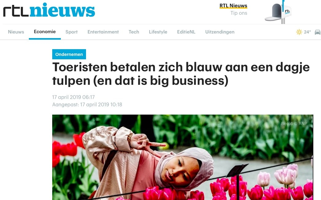 RTL Nieuws and tulip tours