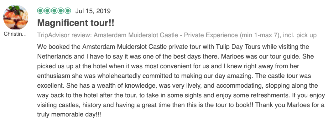 Private Tour to Muiderslot Castle