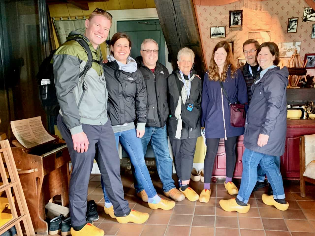 american family on a tour to Kinderdijk with tulip tours