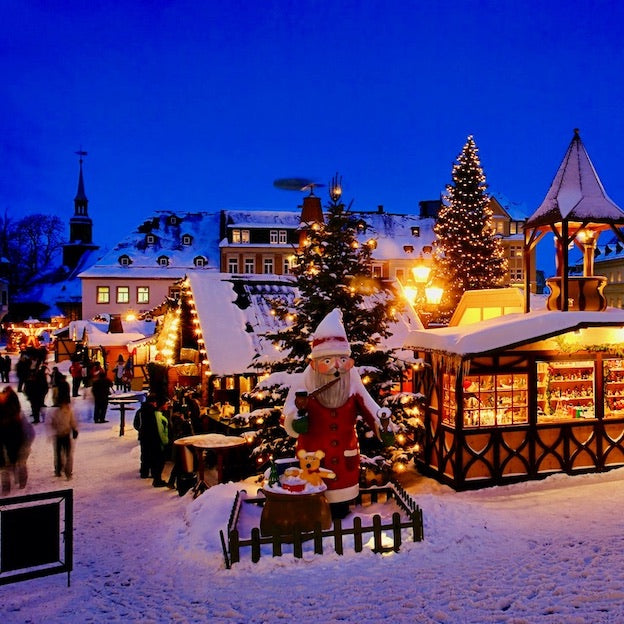 image of a christmas market in  germany