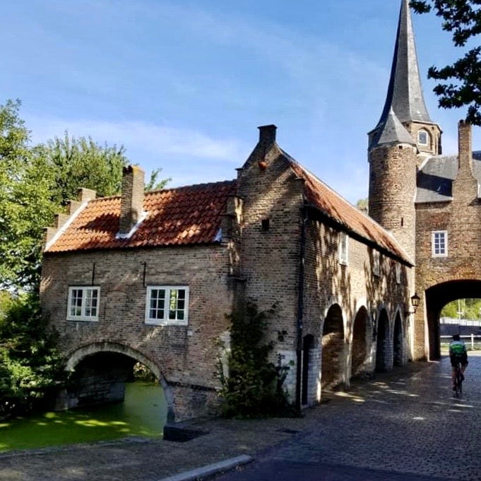 the medieval gate to the city center of Delft