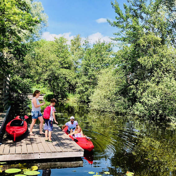 a beautiful image of a family kayak tour in the Netherlands