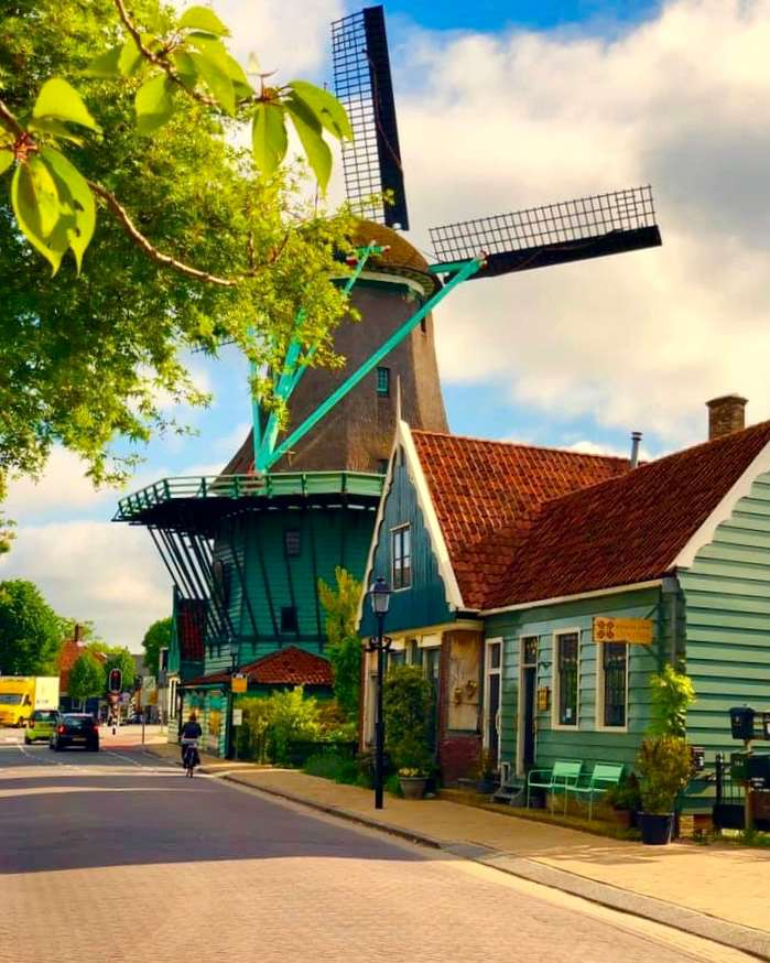 Zaanse Schans Windmills in Holland