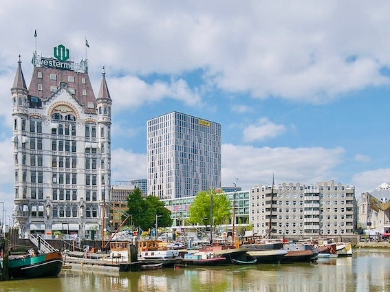 an image of the first skyscraper in the netherlands