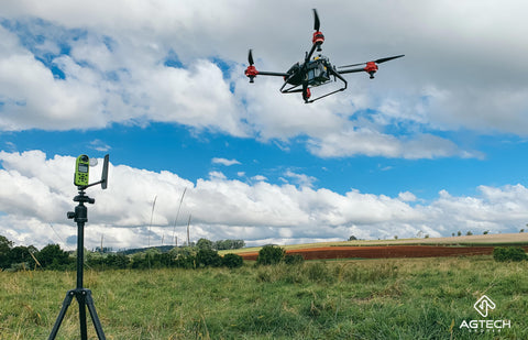 Kestrel AG with agricultural spraying drone