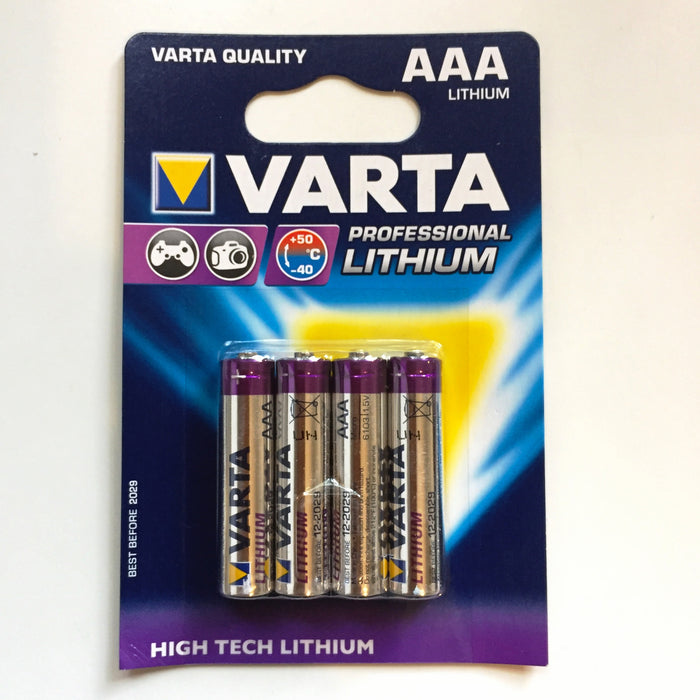 AAA 1.5V Lithium Batteries - 4 x pack