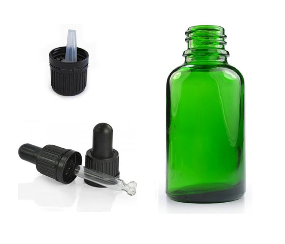 Green Glass Bottles - ekoface